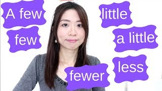 英文文法a few few a little little fewer less用法