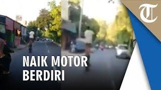 Viral Pengendara Berdiri di Motor saat Melaju, Polisi Mengecam dan Tindak Lanjuti