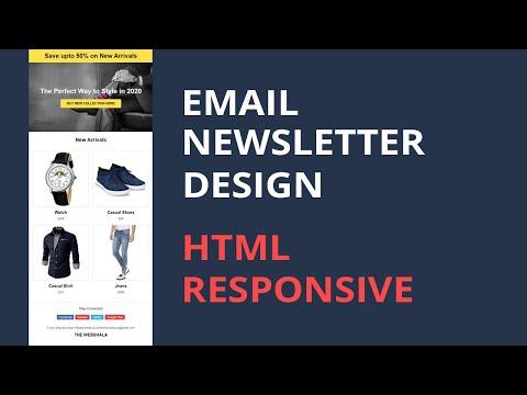 Email Newsletter Design Responsive   Html