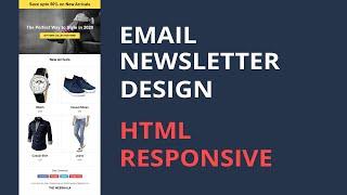Email Newsletter Design Responsive | Html