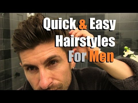 , title : '2 Quick & Easy Men's Hairstyles That Look AWESOME! Men's Hair Tutorial'