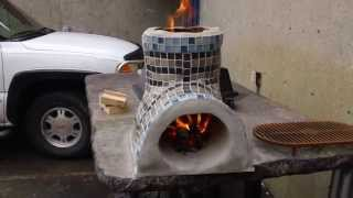 Small Rocket Stove For Cooking  Decorative  Part 1