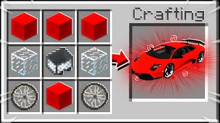 How to Craft the FASTEST Car in Minecraft!