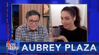 """Tea At The Plaza"" With Aubrey Plaza And Stephen Colbert thumbnail"