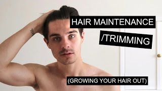 Maintaining/Trimming Men's Hair While Growing It Out   Men's Long Hair