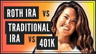 Roth IRA vs Traditional IRA vs 401K (SIMILARITIES & DIFFERENCES)