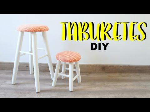 DIY Tapizar y decorar taburetes.