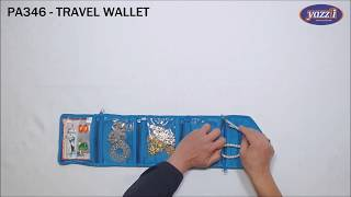 PA346 Travel Wallet | Yazzii Travel Bags | Make-up Jewellery Storage
