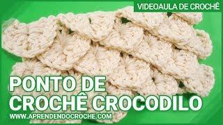 Ponto de Crochê Crocodilo