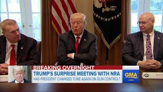 President Trump holds surprise late-night meeting with NRA
