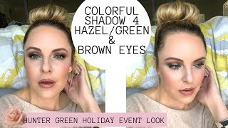 PERFECT SOFT GLAM FOR HAZEL, GREEN & BROWN EYES 30+ || Holiday Event Makeup Look