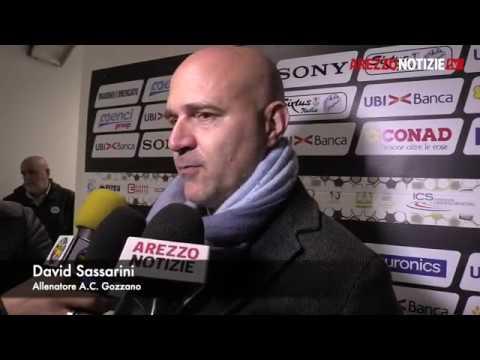 Arezzo-Gozzano 1-0, intervista a Sassarini