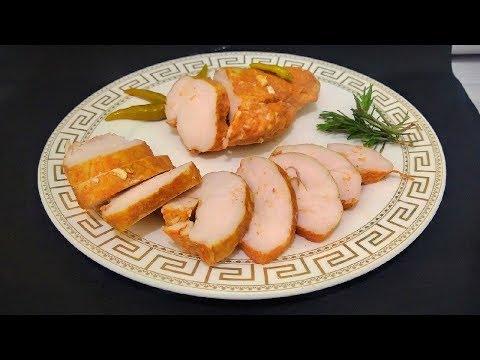 Куриная пастрома без духовки , без варки ,томленая в молоке /Chicken pastrami