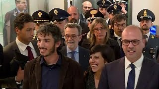 Freed journalist returns to Italy