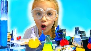Niki pretend play play with Magic Science Tricks for kids