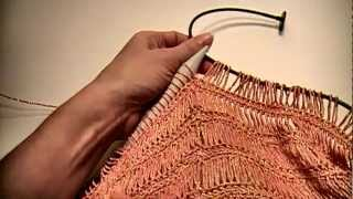 Making The Cowl Cami With Broomstick Lace In The Round