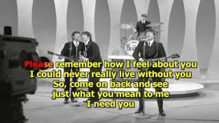 I Need You - The Beatles (Karaoke) HD