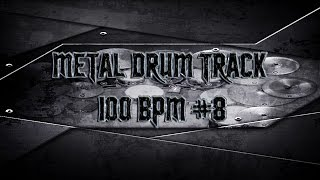 Groovy Modern Metal Drum Track 100 BPM | Preset 2.0 (HQ,HD)