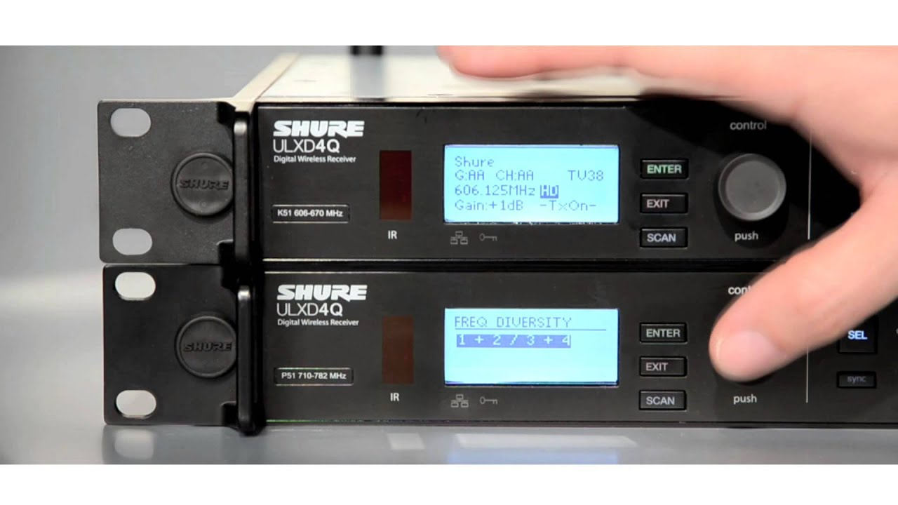 ULX-D digital wireless system: Bodypack Frequency Diversity