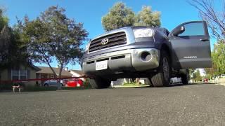 Losi 5T pulls Toyota Scion & Tundra