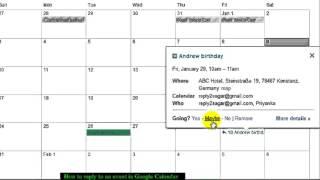 How to accept invitation in Google calendar