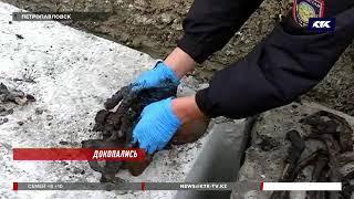 Петропавловские строители наткнулись на человеческие останки