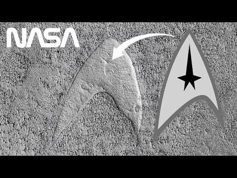 NASA Finds Star Trek Logo on Mars & Pluto on Pluto