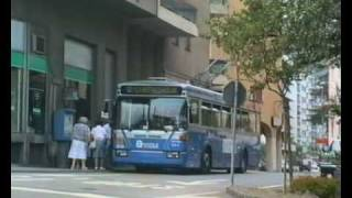 preview picture of video 'Trolleybuses (Filobus) in Lugano'