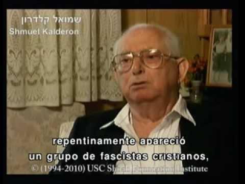 Gila Kalderon, Stella Testa y Shmuel Kalderon sobrevivientes del Holocausto hablan sobre la vida en Monastir, Macedonia antes de la guerra
