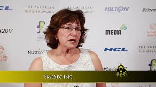 EmeSec Inc Wins Stevie Award in 2017 American Business Awards