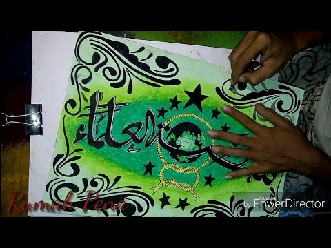 Cara Mewarnai Kaligrafi Arab Dengan Crayon Krayon Untuk Anak