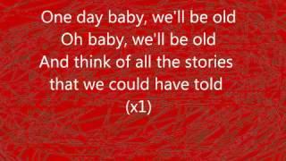 Asaf Avidan   The Mojos   One Day   Reckoning Song Remix Wankelmut Remix   Lyrics