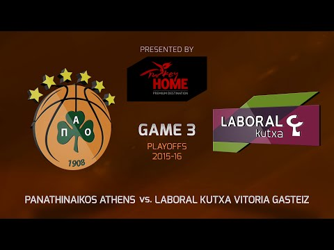 Highlights: Playoffs Game 3, Panathinaikos Athens 75-84 Laboral Kutxa Vitoria Gasteiz