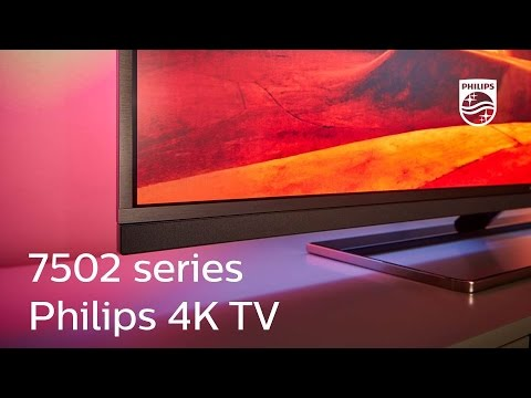 Philips 7502 series:  4K Ultra HD Android TV with Ambilight and visible sound