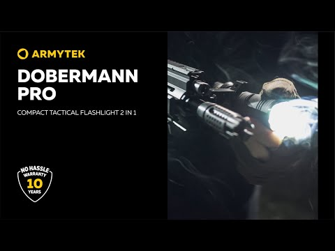 Dobermann Pro — professional tactical flashlight 2 in 1