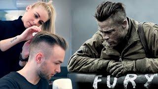 Brad Pitt Hair From FURY - Professional Guide - Mens Undercut