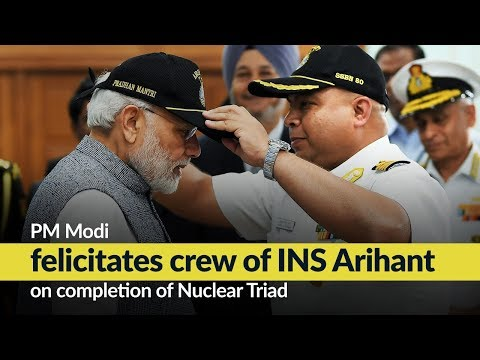 PM Modi felicitates crew of INS Arihant on completion of Nuclear Triad