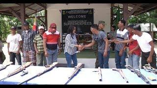 9 na miyembro ng CPP-NPA sa Bayan ng Caranglan, sumuko sa Militar; 12 armas, isinuko rin