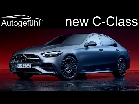 all-new Mercedes C-Class Premiere W206 sedan vs S206 estate C-Klasse 2021 2022