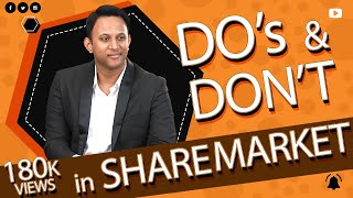 Do's and Don'ts in share market - Tamil
