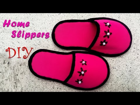 DIY, How To Make Home Slippers With Waste Clothes   کاردستی، ساختن دمپایی از لباسهای کهنه
