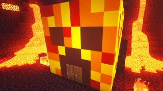 Ultra Realistic NETHER House Battle! (Minecraft)