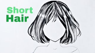 How To Draw Anime Hair- Female (Anime Drawing Tutorial For Beginners)