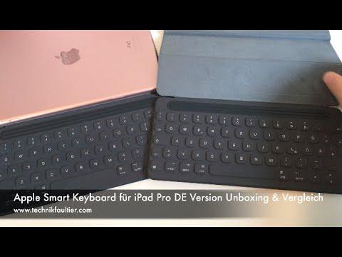 Deutsches iPad Pro Smart Keyboard QWERTZ Layout Unboxing & Vergleich