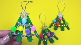 How To Make A Clothespin Christmas Tree | Christmas Crafts For Kids