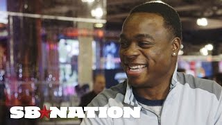 Jeremy Maclin  goes on Super Bowl game show, answers trivia thumbnail