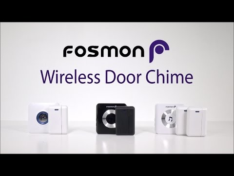 How to set up Fosmon WaveLink Wireless Door Chime at Home or Business with Entry Alert