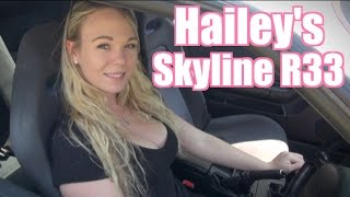 Hailey's Sexy Skyline R33 GTR - JDM GIRL!