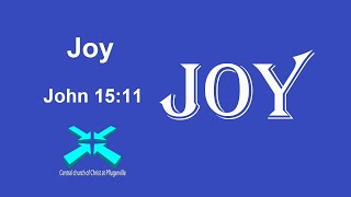 Joy – Lord's Day Sermons – 4 Oct 2020 – John 15:11