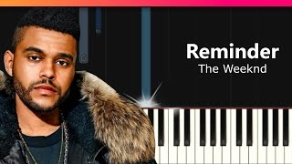 """The Weeknd - """"Reminder"""" Piano Tutorial - Chords - How To Play - Cover"""